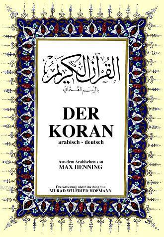 Der Koran; Kur'ân-ı Kerîm ve Almanca Meali (orta boy, şamua kâğıt, ciltli)