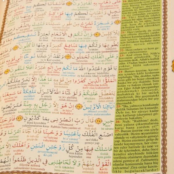 Kur'an-ı Kerim Bilgisayar Hatlı Sesli Orta Boy BEŞLİ (5'Lİ) haktan2